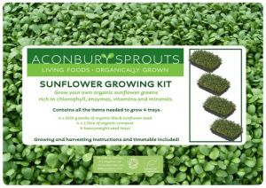 'Grow Your Own' Organic Sunflower Greens Kit from Aconbury