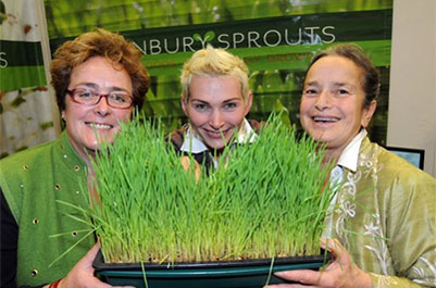 Sophie, Alina and Jill Swyers at Healthy Living Expo 2013